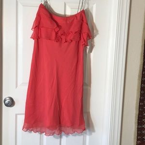 Chic NWT ABS coral cocktail dress